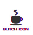coffee cup icon flat vector image vector image