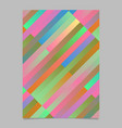 colorful modern geometrical abstract stripe flyer vector image vector image
