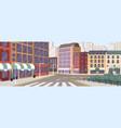 colorful street modern european city vector image vector image