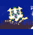 connecticut state flag with audience vector image