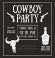 cowboy party banner template design element can vector image vector image