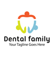Dental Family Design vector image vector image
