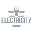 electricity logo simple gray style vector image
