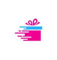 fast gift logo icon design vector image vector image