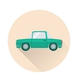 Flat retro car icon vector image