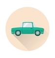 Flat retro car icon vector image vector image