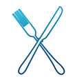fork and knife kitchen cutlery vector image