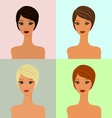 four faces vector image vector image