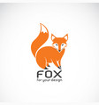 fox design on white background wild animals vector image vector image