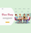 friends cafe group young people vector image vector image