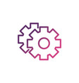 gears setting network social media icon line vector image