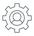 gears support user cartoon vector image