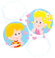 Girl and Boy dreaming vector image