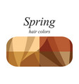 hair colors for spring type vector image vector image