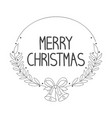 handwritten text merry christmas vector image
