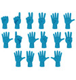 human count number hand gesture vector image