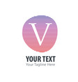 initial letter v abstract line logo style vector image