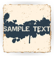 Ink blots on old paper vector image vector image