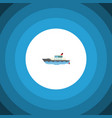 isolated yacht flat icon sailboat element vector image