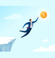 jumping for business success vector image vector image