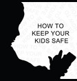 keep kids safe on internet vector image vector image