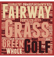 Know Your Course Fairways text background vector image vector image