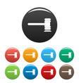 legislation icons set color vector image vector image