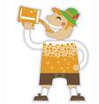 man drinking a lot beer oktoberfest isola vector image