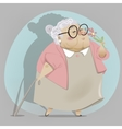 Old woman cartoon character vector image