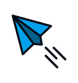 paper plane icon isolated on white background vector image vector image