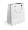 Paper shopping bag isolated on white background vector image vector image