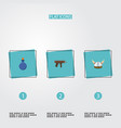 set of gaming icons flat style symbols with mana vector image