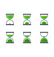 set of hourglass icons vector image
