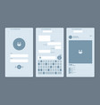 set of user interface designs vector image