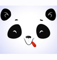 sleepy panda face isolated on white background vector image vector image