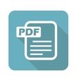 Square PDF file icon vector image vector image