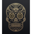 Sugar Skull day of the dead Mexican style golden vector image vector image