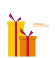 Surprise and bright holiday gift vector image