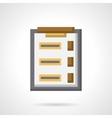 Survey clipboard flat color icon vector image vector image