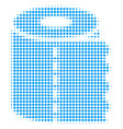 toilet paper roll halftone icon vector image vector image