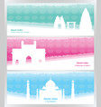 travel to india travel banners about india vector image vector image