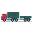 Truck with trailer vector image vector image