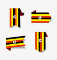 ugandan flag stickers and labels vector image vector image
