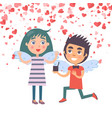 valentine boy proposal marriage to woman vector image vector image