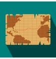 Vintage map flat icon vector image