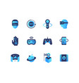 virtual reality - set of flat design style icons vector image vector image