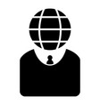 web head businessman character icon vector image