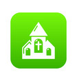 wedding church icon green vector image