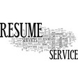 why invest on a resume service text word cloud vector image vector image