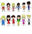 World Children set vector image vector image